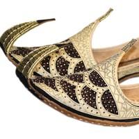 Indische Schnabelschuhe - Khussa in Gold-Schwarz