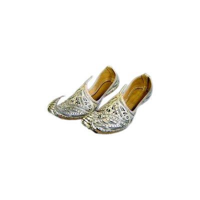 Indische Schnabelschuhe - Khussa Schuhe in Gold-Schwarz