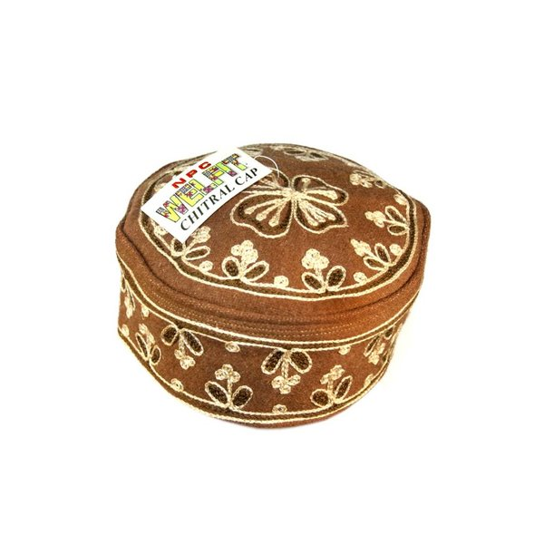 Chatrali cap with embroidery / Gr. M / L (54/56)