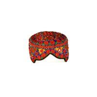 Bunte Sindhi Mütze mit Stickerei / Gr. M