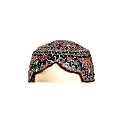 Bunte Sindhi Mütze mit Stickerei / Gr. S