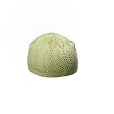 Hellgrüne Häkelmütze / Universalgröße