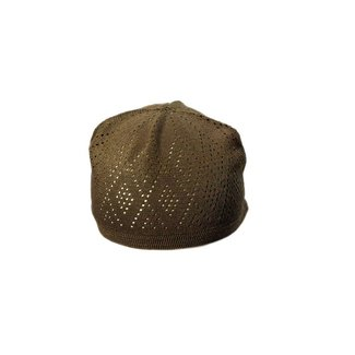 Brown crocheted cap / one size