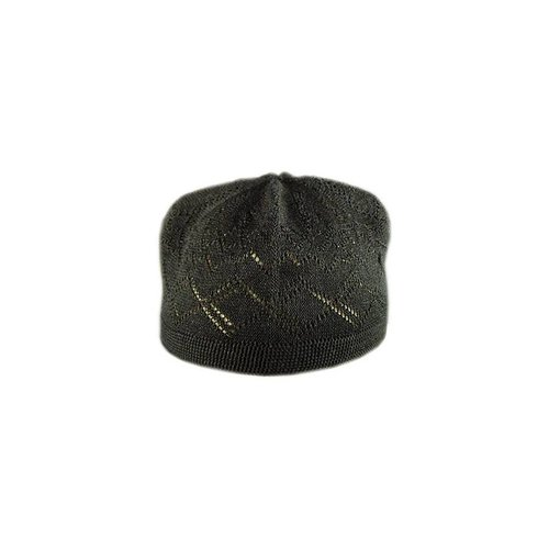 Black crocheted cap / one size