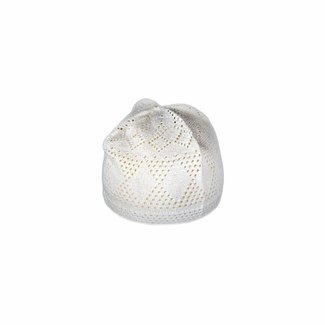 White crocheted cap / one size