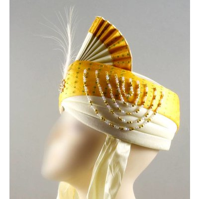 Indian Wedding Turban with feather