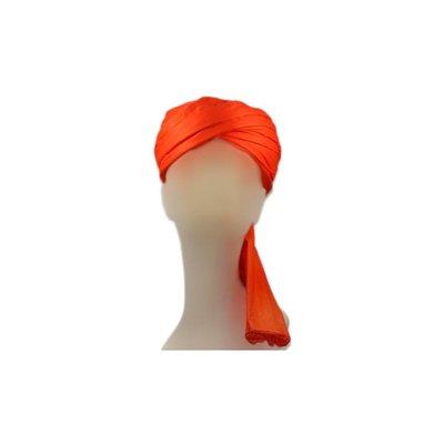 Turban-Tuch in Orange zum Binden