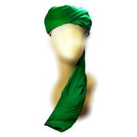Turban in green cloth binding