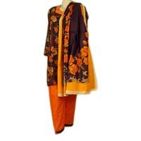 Salwar Kameez Damen - Orange Roses