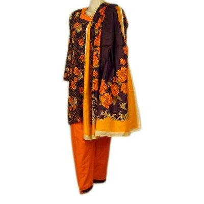 Salwar Kameez Ladies - Orange Roses