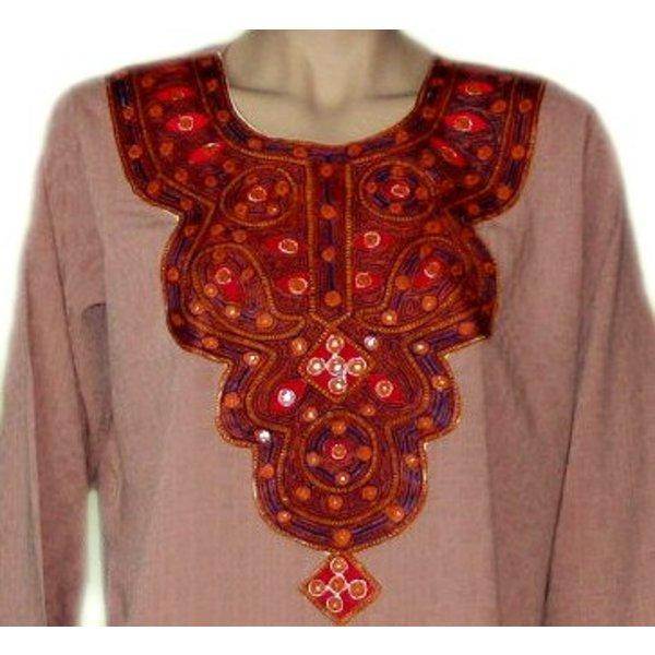 Salwar Kameez Damen - Spiegeldesign Altrosa