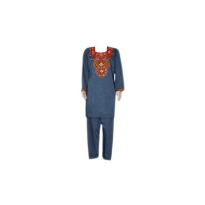 Salwar Kameez Damen - Spiegeldesign Blaugrau