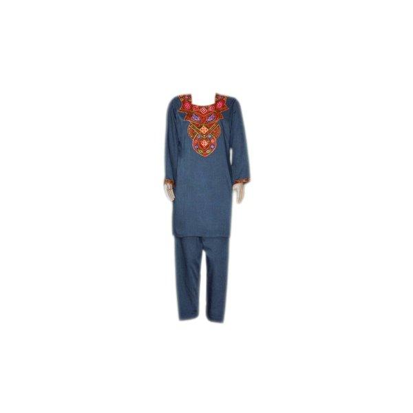 Salwar Kameez Ladies - Mirror Design Blue Grey