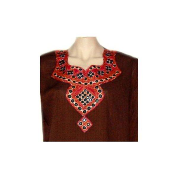 Salwar Kameez Ladies - Mirror Design Dark Brown