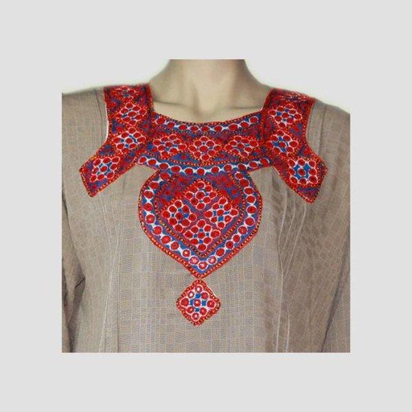 Salwar Kameez Damen - Spiegeldesign Grau