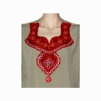 Salwar Kameez Damen - Spiegeldesign Grüngrau