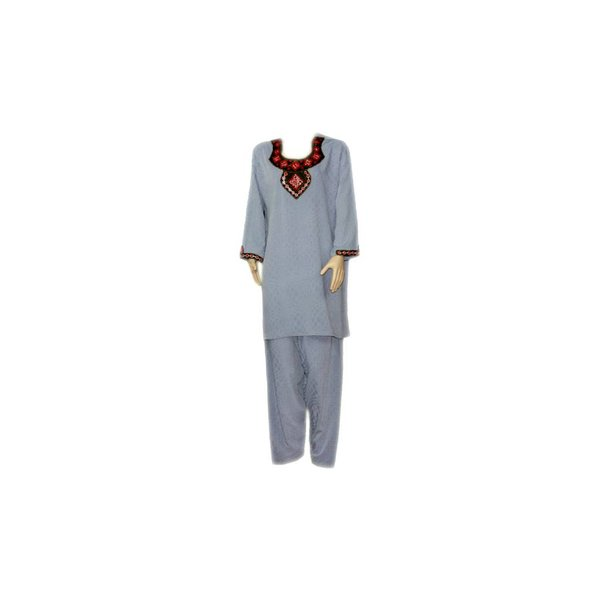 Salwar Kameez Ladies - Mirror Design Blue Grey