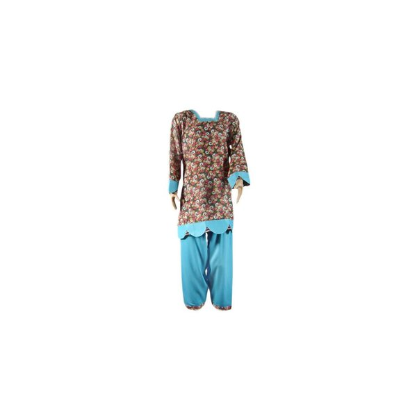 Salwar Kameez Damen - Blue Waves