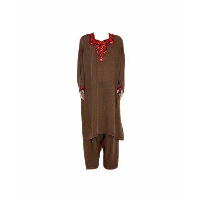 Jabador, Takem für Damen - Braun Sindhi Style