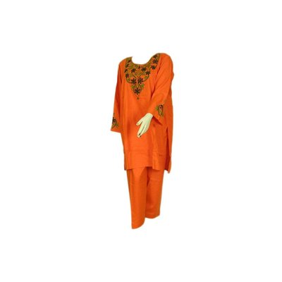 Salwar Kameez Damen - Orange Sweetheart