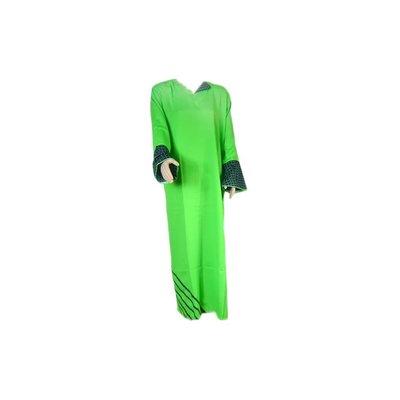 Arab Jilbab Kaftan in Green with applique