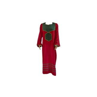 Arabian Caftan Dress in Burgundy