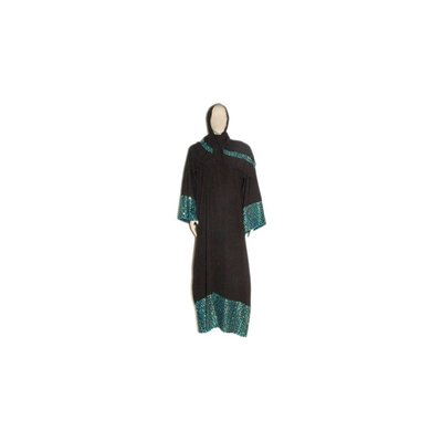 Arab Galabiya djellaba with embroidery - Turquoise