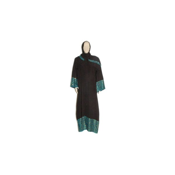 Arab Galabiya djellaba with embroidery - Turquoise