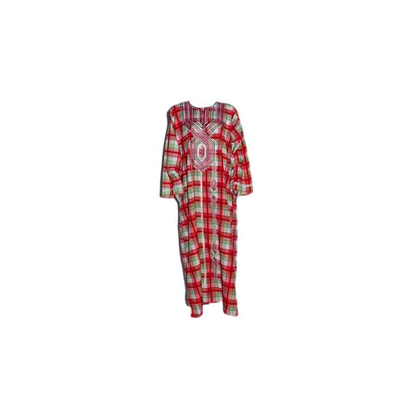 Arab Jilbab Kaftan in Red check pattern