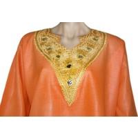 Arabic Jilbab Dress for Women Orange