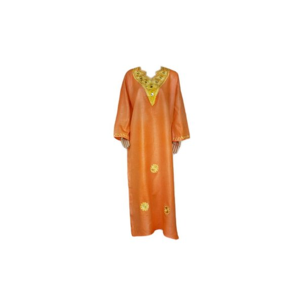 Arabisches Jilbab-Kleid für Damen Orange