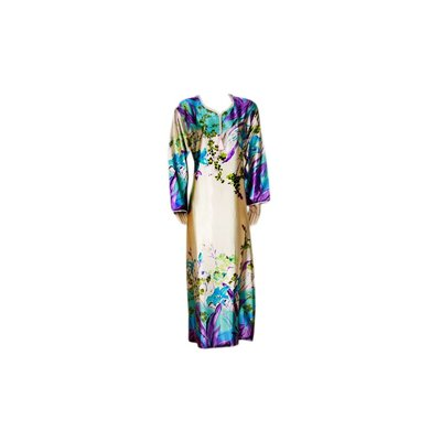 Djellaba Kaftan for Women in Turquoise Violet