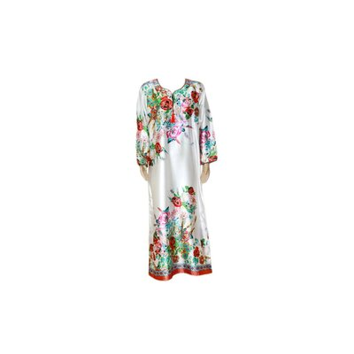 Djellaba Kaftan for Women in Turquoise Red
