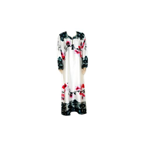 Satin Kaftan Pink-Black