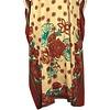Arabic Kaftan Dress with Scarf for Ladies - Short Sleeve