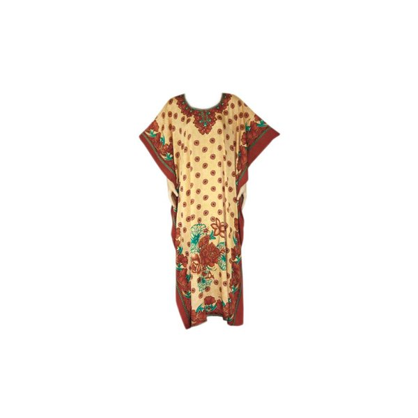 Arabic Kaftan Dress with Scarf for Ladies - Short Sleeve