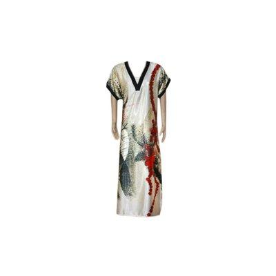 Djellaba Kaftan for Women in Red - Short Sleeve