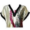 Djellaba Kaftan für Damen in Pink - Kurzarm