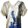 Djellaba Kaftan for Women in Blue - Short Sleeve