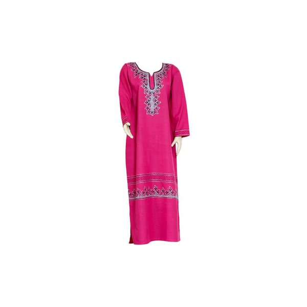 Djellaba kaftan for ladies in pink with embroidery
