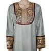 Jilbab Kaftan für Damen mit Applikationen - Hellgrau