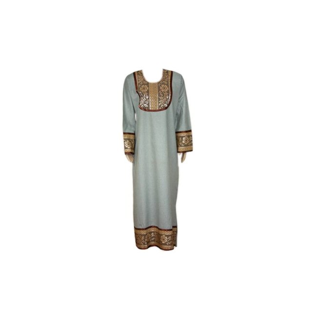 Kaftan with applications - Light Grey