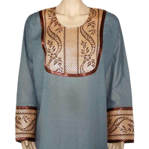 Jilbab kaftan for ladies with applications - Grey