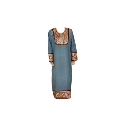Kaftan mit Applikationen - Grau