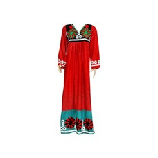Embroidered Arab Dress in Red