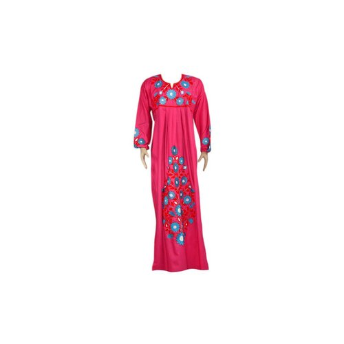 Embroidered Arab Caftan Dress in Pink