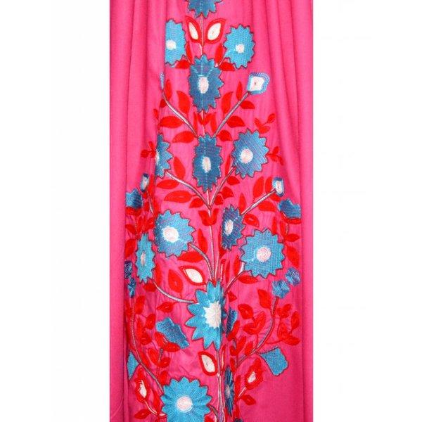 Arab Jilbab Kaftan in Pink with Embroidery