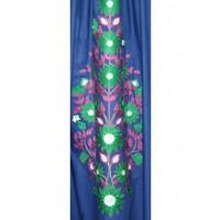 Arabischer Jilbab-Kaftan in Indigoblau mit Stickerei