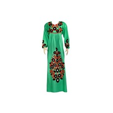Embroidered Arab Dress in Green