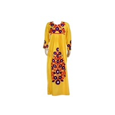 Embroidered Arab Dress in Yellow